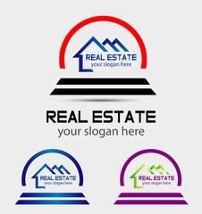 Creative abstract real estate logo