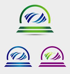 Creative abstract wave logo