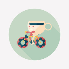 coffee time flat icon with long shadow,eps10