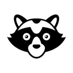 Raccoon Head Logo Style  Icon.