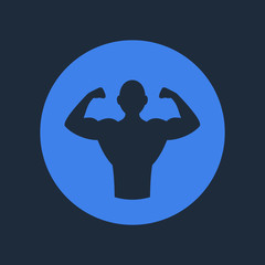 Bodybuilder Fitness Logo Icon.