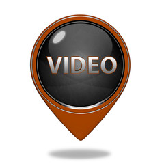 video pointer icon on white background