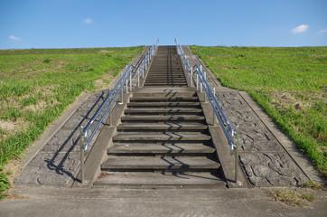 階段と堤防