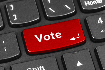Computer notebook keyboard with Vote key