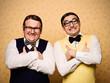 Portrait of two male nerds