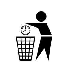 Do not waste time icon