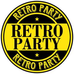 retro party label