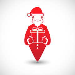 Icon with Santa Claus. Vector.