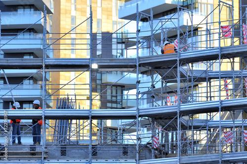 Aluminium Treinstation cantiere di costruzione edile - Milano