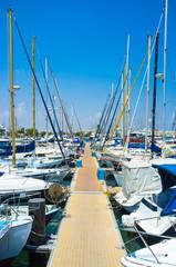 The port of Larnaka