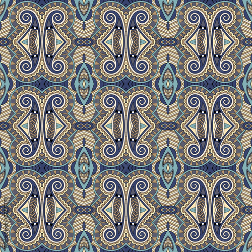 seamless geometry vintage pattern, ethnic style ornamental backg © Kara-Kotsya