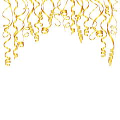 Hanging Golden Streamers