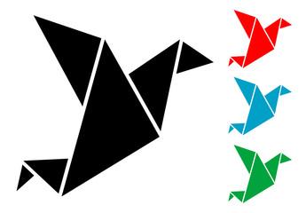 Pictograma origami con varios colores