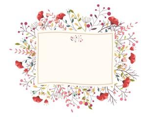 Retro flower for wedding invitation
