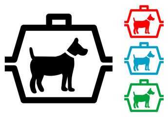 Pictograma transportin para perros con varios colores