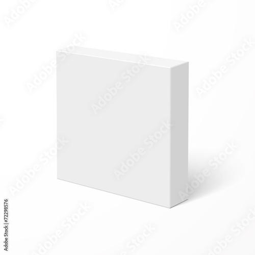 Blank box isolated on white background - 72298576