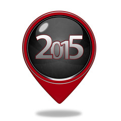 2015  pointer icon on white background