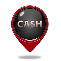 Cash pointer icon on white background