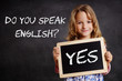 Leinwanddruck Bild - Do you speak English? - Yes