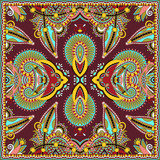 Fotoroleta Traditional ornamental floral paisley bandanna. Square ornament