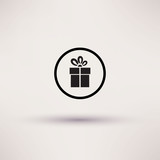 Pictograph of gift Vector icon Template for design. poster