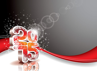 Vector Happy New Year 2015 background.