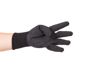 Black rubber protective glove.