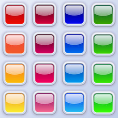 16 wedsite colored  buttons