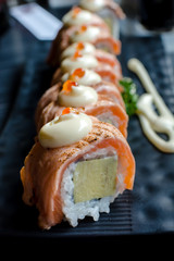 Salmon roll Japanese food