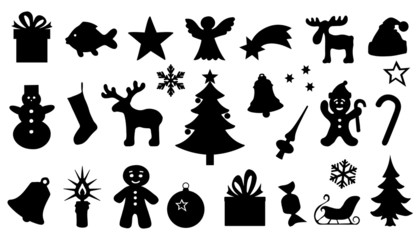 chritmas silhouttes