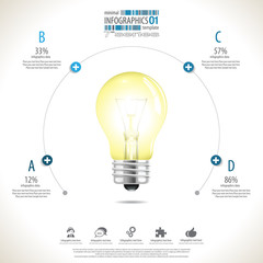 Minimal infographics - Idea