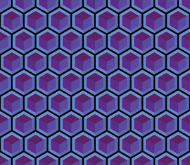 A purple seamless hexagonal pattern