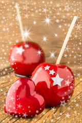 Zuckeräpfel und Herz