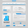 Web UI Controls Elements Gray And Blue