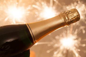champagner flasche silvester