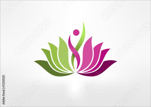 logo lotus, Abstract Woman sign symbol - 72303121