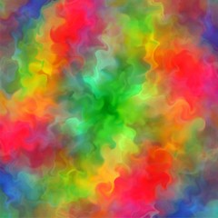 Abstract rainbow color paint fractal art background