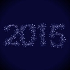 2015 Happy new year sparklers