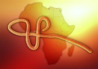 Ebola auf Afrika