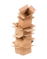 Cardboard boxes.