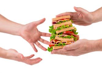 Sandwich in hands