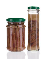 jars of anchovy fillets.