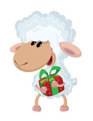 lamb and gift