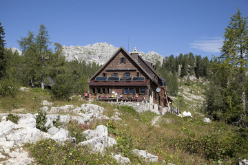 Alpine hut in Slovenia