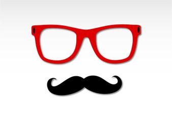 occhiali, baffi, creativo, artista