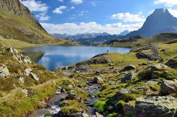 Lake Gentau in the Bearn Pyrenees