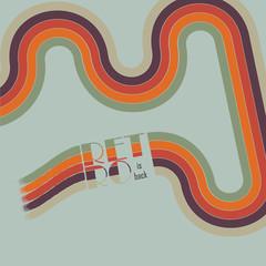 Retro vintage loop background design