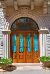 Wooden door. Minervino Murge. Puglia. Italy.