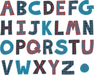 Hand Drawn Alphabet Text