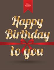 Happy birthday card. Vector illustration.